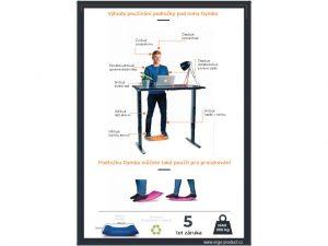 5531 gymba aktivni podlozka k vyskove stavitelnemu stolu pink - Delso - dětský, kancelářský a bytový nábytek