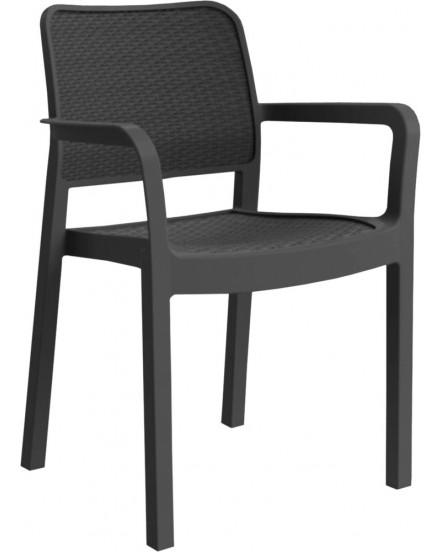 bergano antracit zidle - Delso - dětský, kancelářský a bytový nábytek