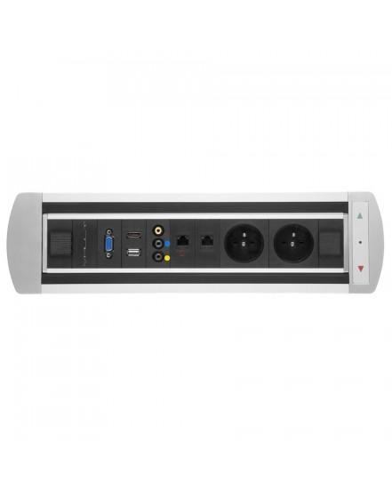 elektricky otocny panel 2x el2x data av vga usb hdmi - Delso - dětský, kancelářský a bytový nábytek