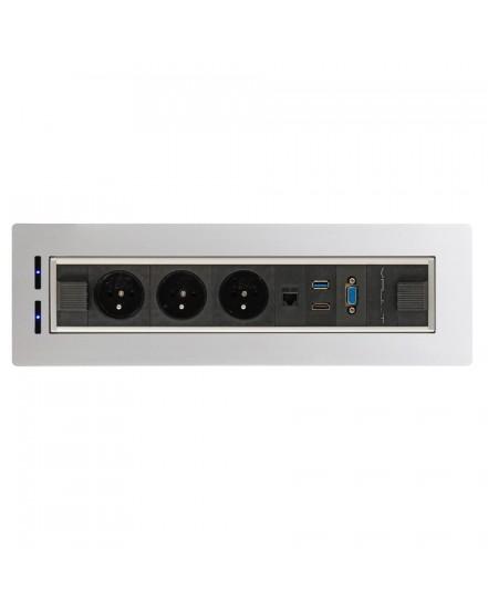 elektricky otocny panel 3x el1x data vga usb 30 hdmi 1 - Delso - dětský, kancelářský a bytový nábytek