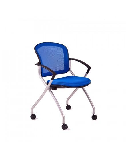 jednaci zidle s kolecky dk 90 modra - Delso - dětský, kancelářský a bytový nábytek