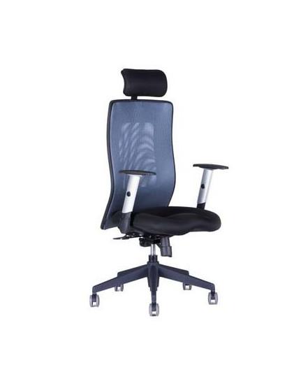 kancelarska zidle s podhlavnikem 14a11 modra - Delso - dětský, kancelářský a bytový nábytek