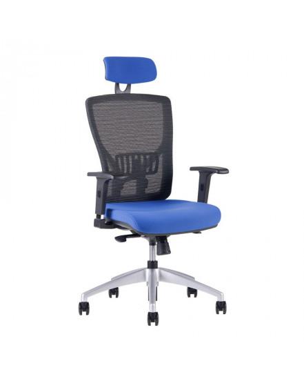 kancelarska zidle s podhlavnikem 2621 modra 1 - Delso - dětský, kancelářský a bytový nábytek