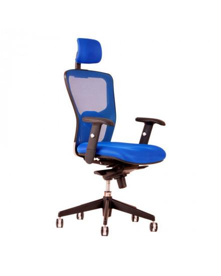 kancelarska zidle s podhlavnikem dk 90 modra - Delso - dětský, kancelářský a bytový nábytek
