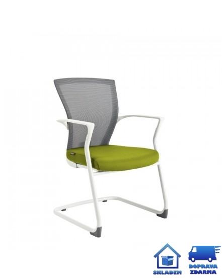 merens white meeting konferencni zidle - Delso - dětský, kancelářský a bytový nábytek
