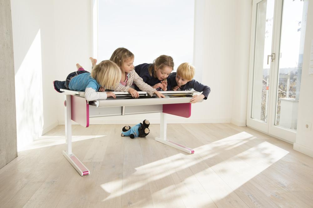 moll people Champion Spass06 hoehenverstellbarer ergonomischer kinderschreibtisch jugendschreibtisch - Delso - dětský, kancelářský a bytový nábytek