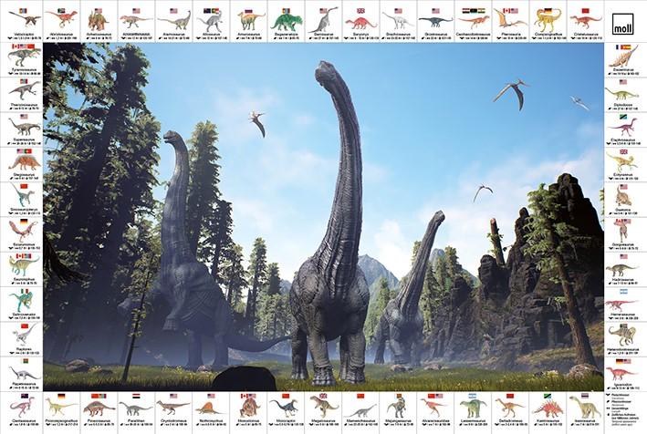 psaci podlozka Dinosaurus - Delso - dětský, kancelářský a bytový nábytek