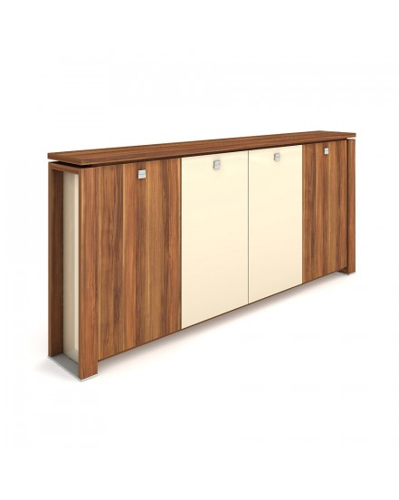 skrin ctyrdverova s vesakem sklenene dvere 2 - Delso - dětský, kancelářský a bytový nábytek