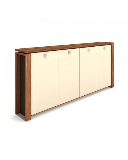 skrin ctyrdverova s vesakem sklenene dvere 3 - Delso - dětský, kancelářský a bytový nábytek