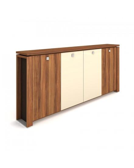 skrin ctyrdverova s vesakem sklenene dvere 4 - Delso - dětský, kancelářský a bytový nábytek