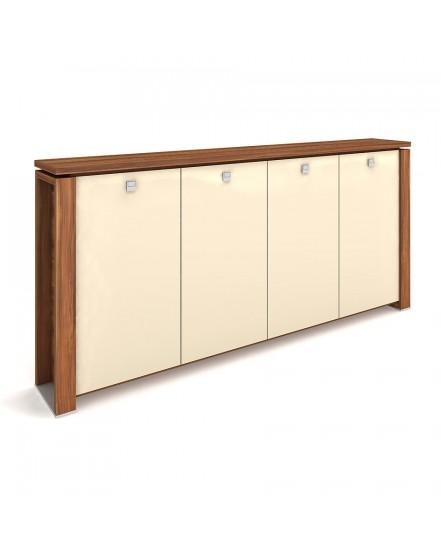 skrin ctyrdverova s vesakem sklenene dvere 5 - Delso - dětský, kancelářský a bytový nábytek