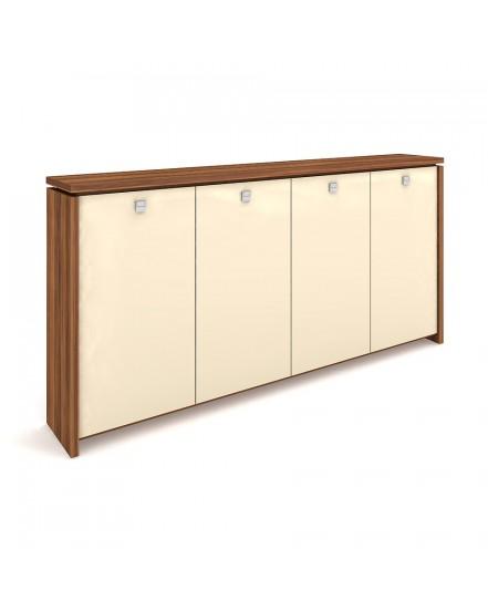 skrin ctyrdverova s vesakem sklenene dvere - Delso - dětský, kancelářský a bytový nábytek