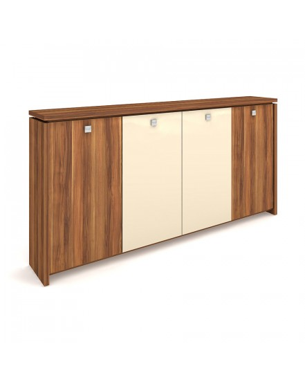 skrin ctyrdverova s vesakem zavrena sklenene dvere - Delso - dětský, kancelářský a bytový nábytek