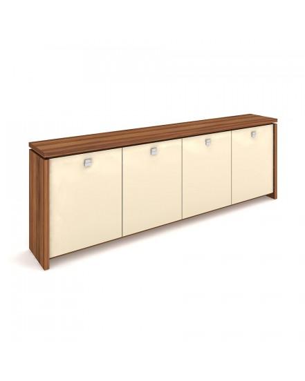 skrin ctyrdverova sklenene dvere - Delso - dětský, kancelářský a bytový nábytek