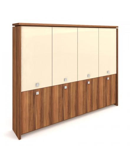 skrin ctyrdverova zavrena sklenene dvere - Delso - dětský, kancelářský a bytový nábytek