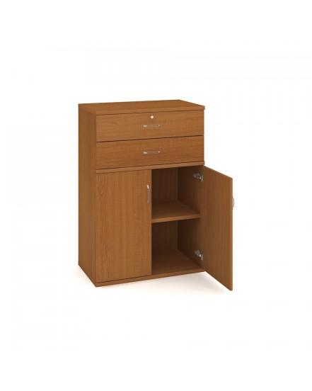 skrin policova zasuvkova 115280cm - Delso - dětský, kancelářský a bytový nábytek