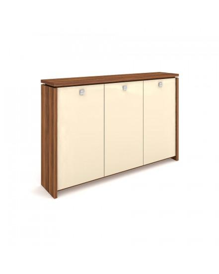 skrin tridverova s vesakem sklenene dvere - Delso - dětský, kancelářský a bytový nábytek
