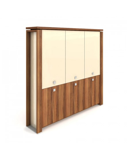 skrin tridverova zavrena sklenene dvere 2 - Delso - dětský, kancelářský a bytový nábytek
