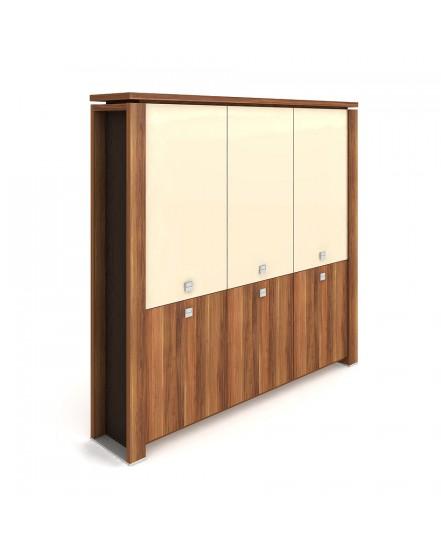 skrin tridverova zavrena sklenene dvere 3 - Delso - dětský, kancelářský a bytový nábytek