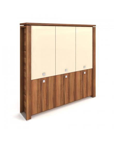 skrin tridverova zavrena sklenene dvere 4 - Delso - dětský, kancelářský a bytový nábytek