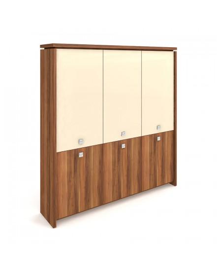 skrin tridverova zavrena sklenene dvere - Delso - dětský, kancelářský a bytový nábytek
