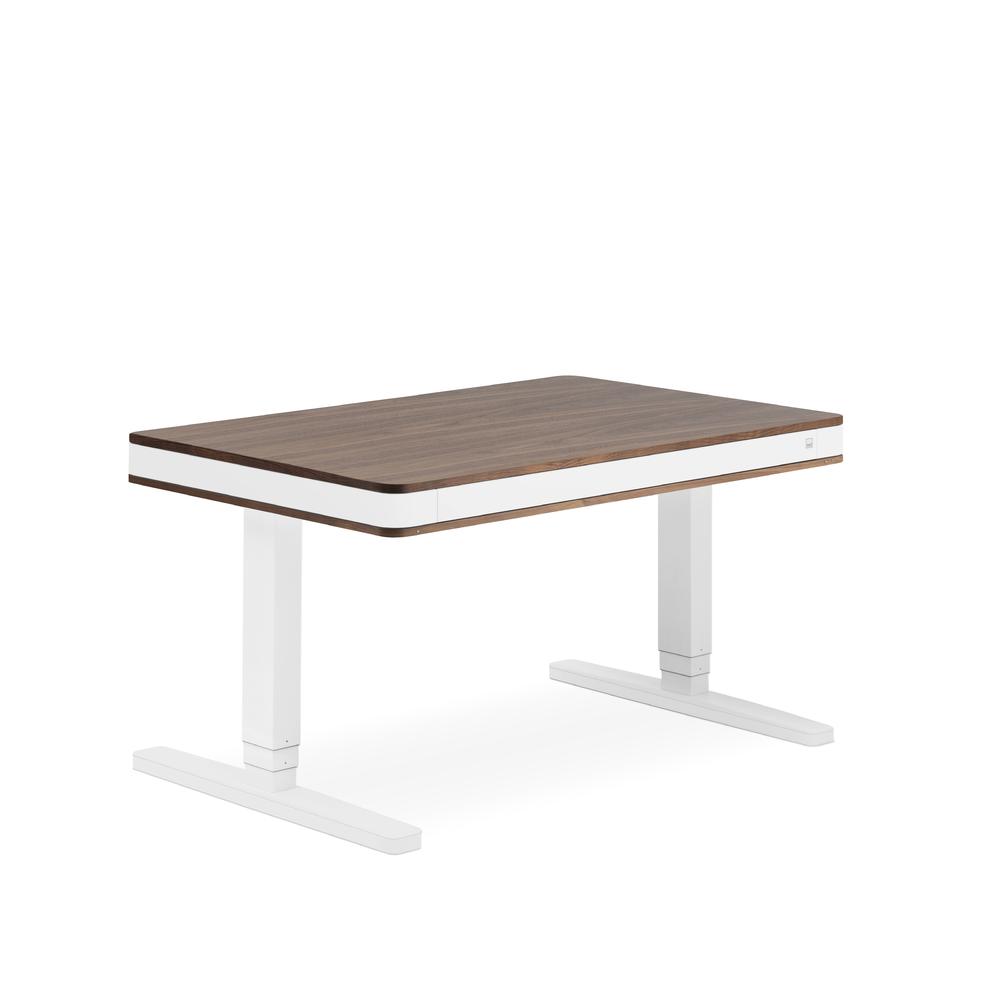 Designschreibtisch moll T7 exklusive Nussbaum - Delso - dětský, kancelářský a bytový nábytek