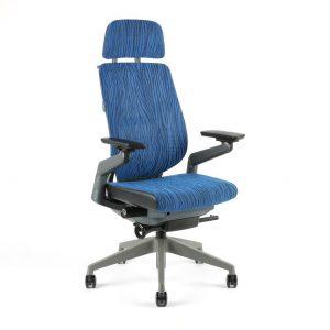 kancelarska zidle Karme Mesh a 07 modra zihana - Delso - dětský, kancelářský a bytový nábytek