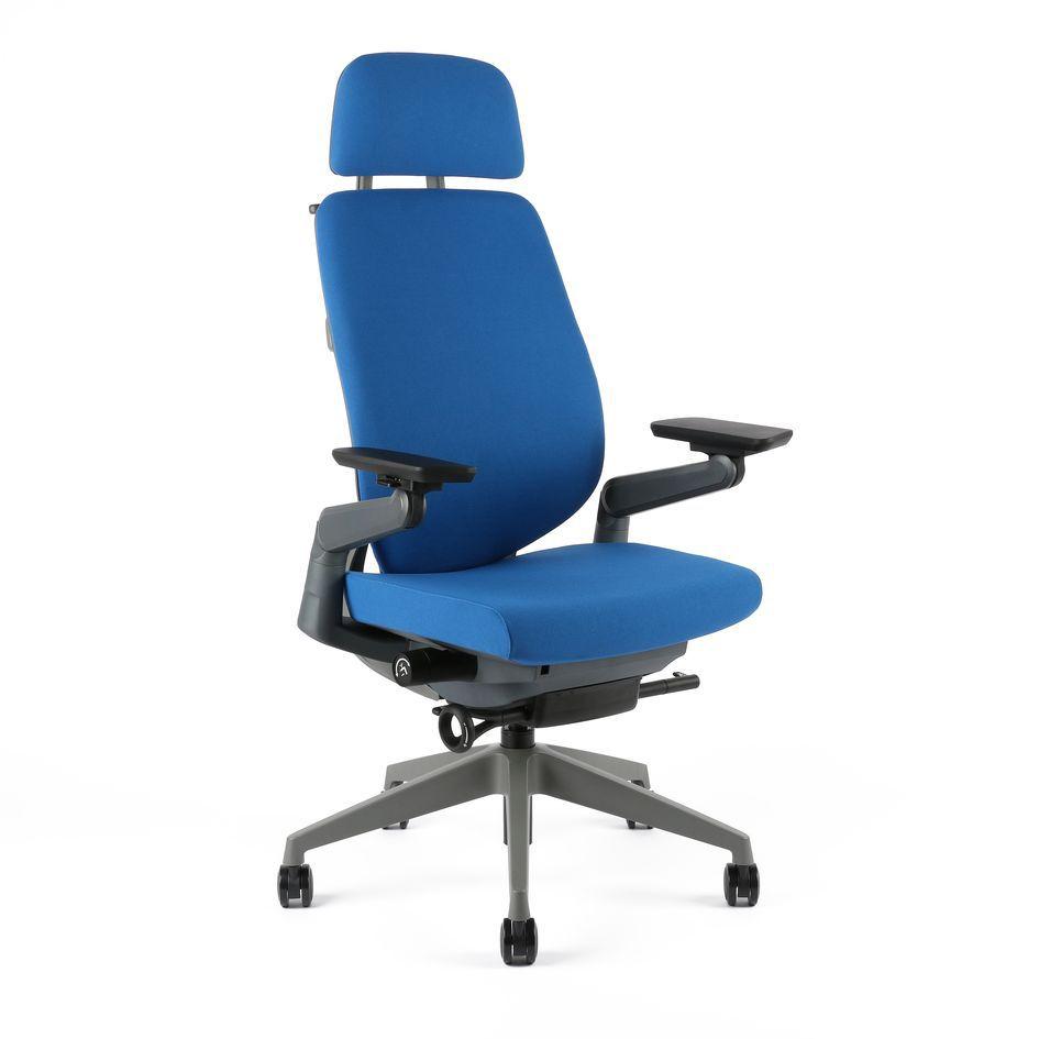 kancelarska zidle karme F 03 modra - Delso - dětský, kancelářský a bytový nábytek