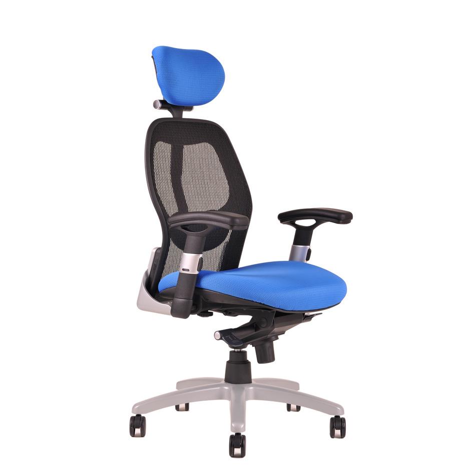 kancelarska zidle saturn net modra - Delso - dětský, kancelářský a bytový nábytek