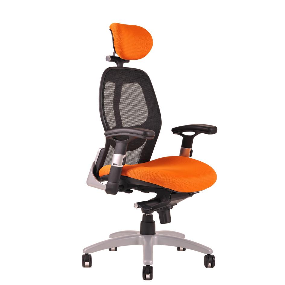 kancelarska zidle saturn net oranzova - Delso - dětský, kancelářský a bytový nábytek