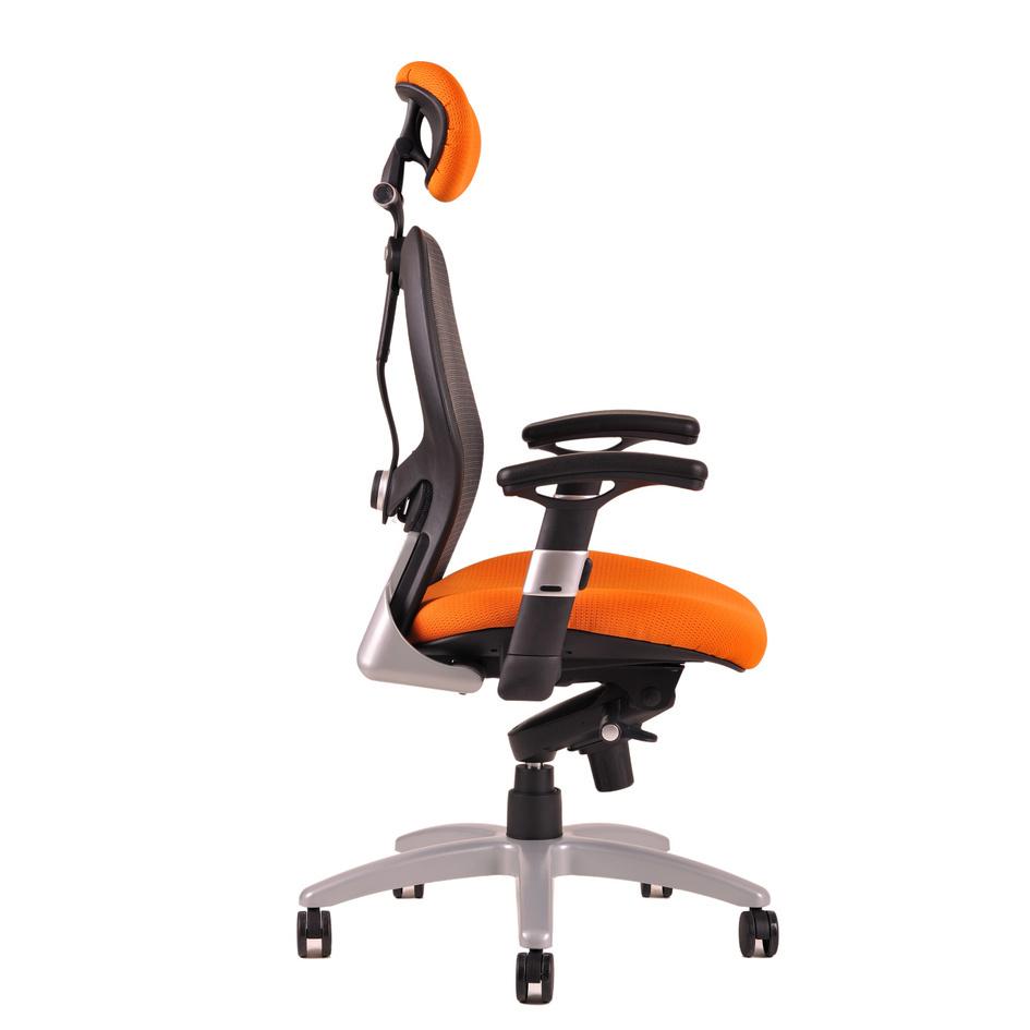 kancelarska zidle saturn net oranzova 1 - Delso - dětský, kancelářský a bytový nábytek