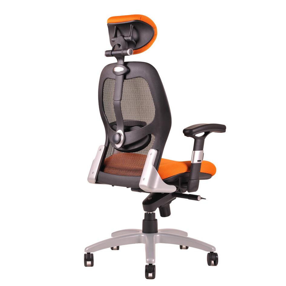 kancelarska zidle saturn net oranzova 2 - Delso - dětský, kancelářský a bytový nábytek