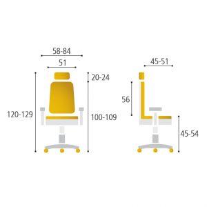 rozmery karme1 - Delso - dětský, kancelářský a bytový nábytek