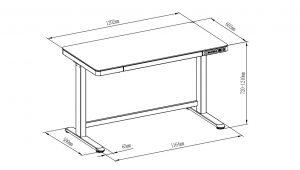 obrazek s rozmery - Delso - dětský, kancelářský a bytový nábytek